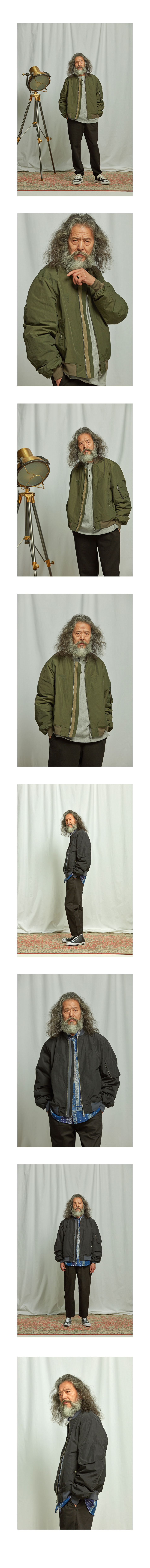 프리즘웍스 Dover MA-1 flight jacket _ black