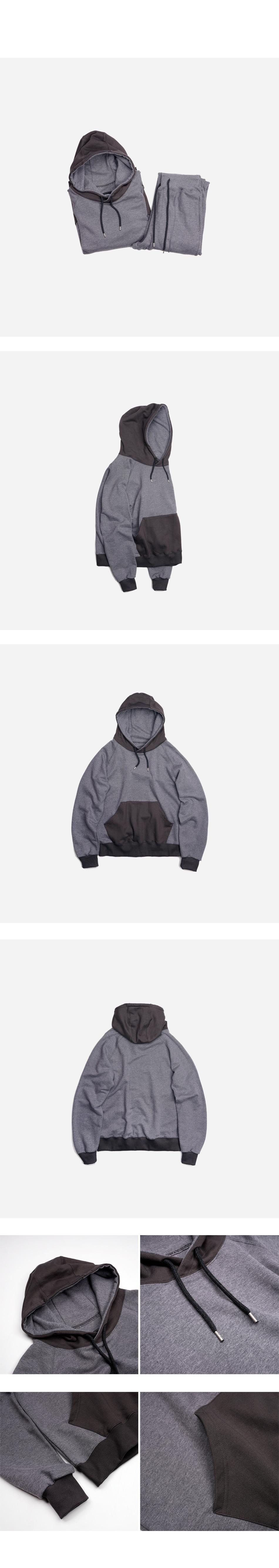 프리즘웍스 Division sweat hoody _ gray