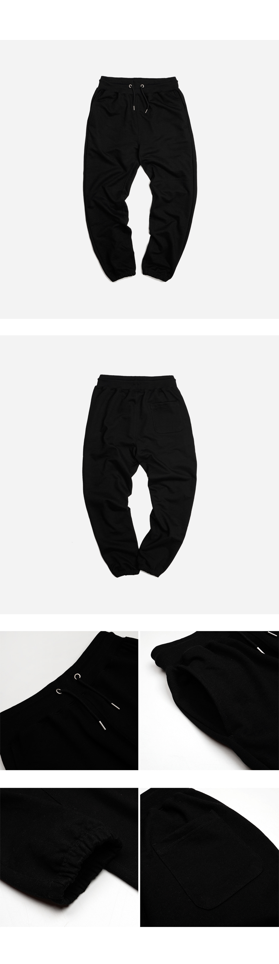 프리즘웍스(FRIZMWORKS) OG HEAVYWEIGHT SWEAT PANTS _ BLACK